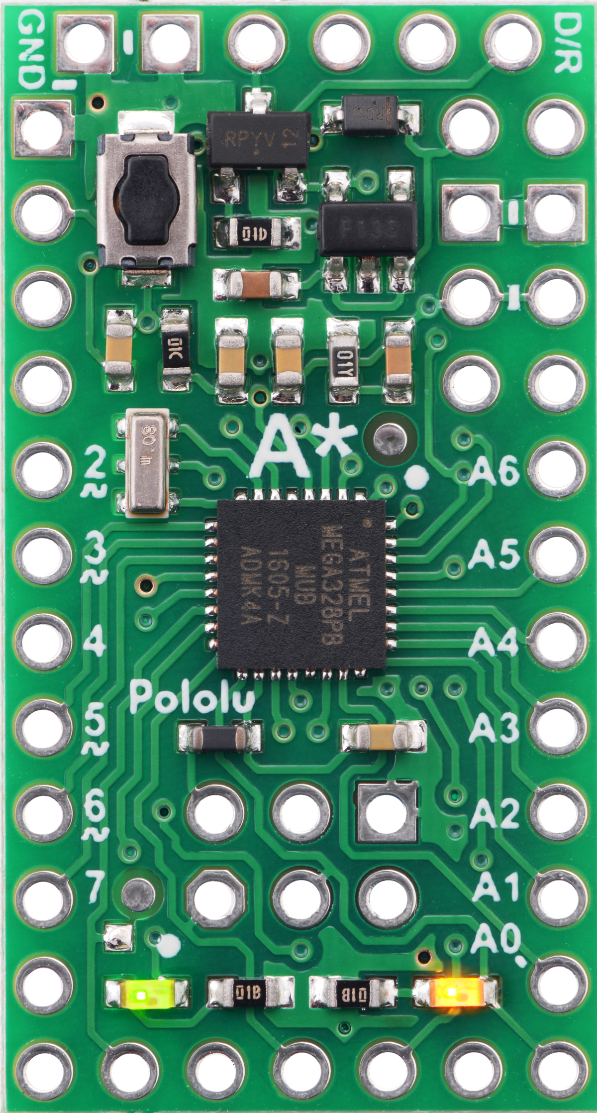 Pololu A Star 328pb Micro 33v 8mhz Working With External Interrupts In Avr Controller