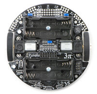 Top view of the Pololu 3pi robot without batteries or LCD.