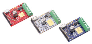 Tic T500, T834, and T825 USB Multi-Interface Stepper Motor Controllers.