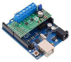 Dual MAX14870 Motor Driver Shield on an Arduino Uno