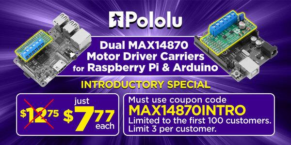 "Pololu - Posts tagged ""raspberry pi"""