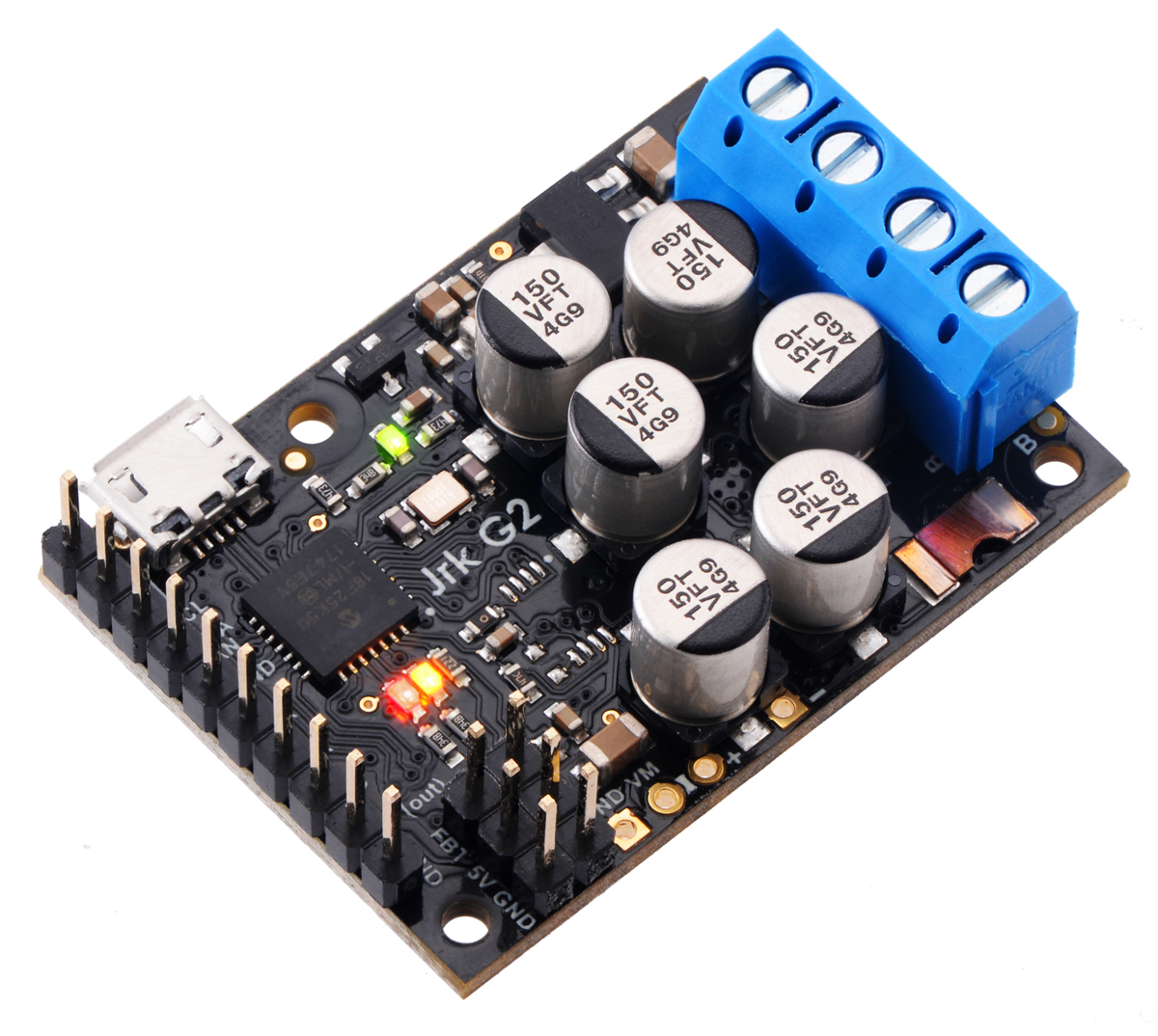 Pololu Jrk G2 Motor Controller Users Guide As Shown For The Electronic Watchdog Circuit It Has Ability Of 18v27 Or 24v21 Usb With Included Terminal Blocks And Headers Soldered
