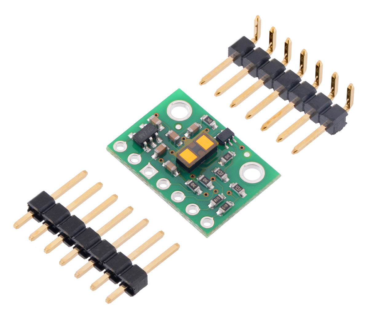 Pololu Vl53l1x Time Of Flight Distance Sensor Carrier With Voltage Circuit Board Electronic Components Inside A Computer Stock Photo Included Header Pins