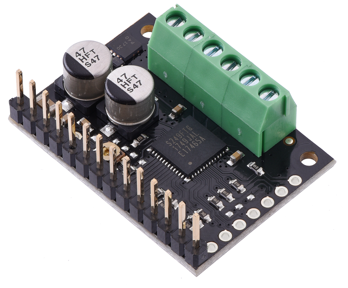 Pololu Tb67s279ftg Stepper Motor Driver Carrier Full Breakout The Resistor Is On Left Side Of Board Close To Heat Sink 01 Male Header Can Be Broken Or Cut Into Smaller Pieces As Desired And Soldered Through Holes These Headers Are Compatible With