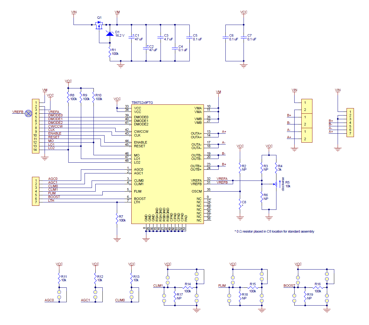 Pololu Tb67s279ftg Stepper Motor Driver Carrier Full Breakout In Your Programto Drive A Using This Configuration Schematic Diagram Of The Tb67s249ftg