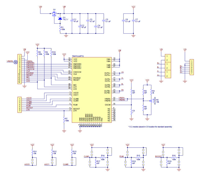 TB67S249FTG Stepper Motor Driver Carrier Schematic Diagram