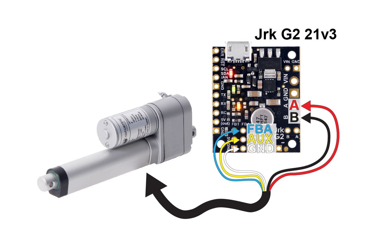 Enjoyable Pololu Glideforce Lact4P 12V 20 Light Duty Linear Actuator With Wiring Database Gramgelartorg