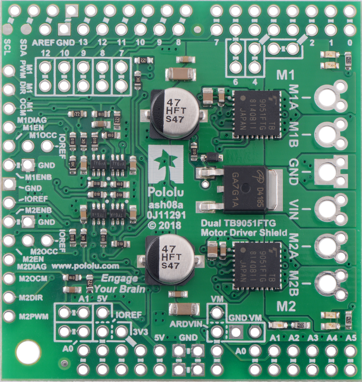 Pololu Dual Tb9051ftg Motor Driver Shield For Arduino How To Make Custom Shields A Microcontroller Board This Versatility Along With An Option Power The From Either Directly Or Through Added Regulator Sets Apart