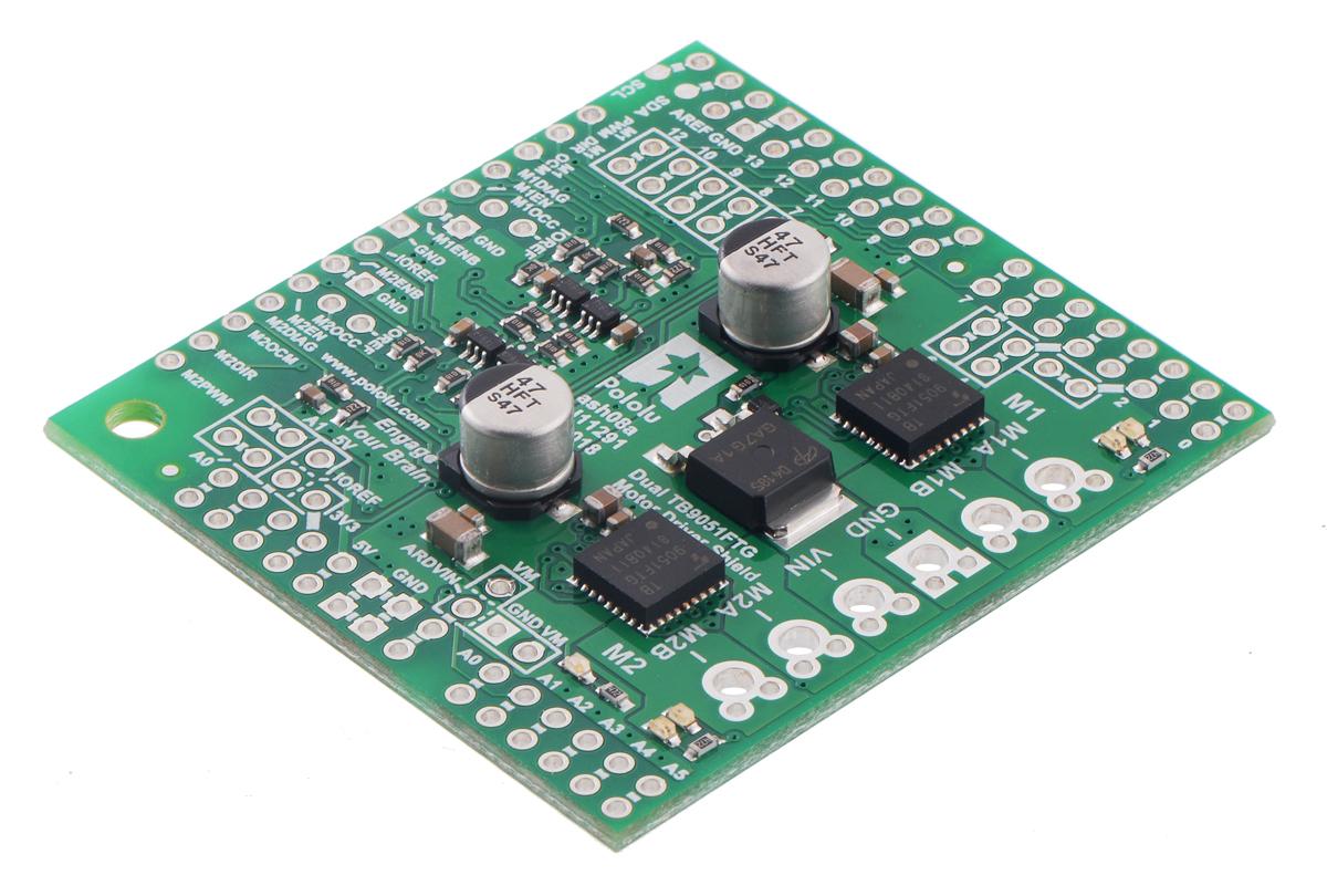 Pololu - Dual TB9051FTG Motor Driver Shield for Arduino