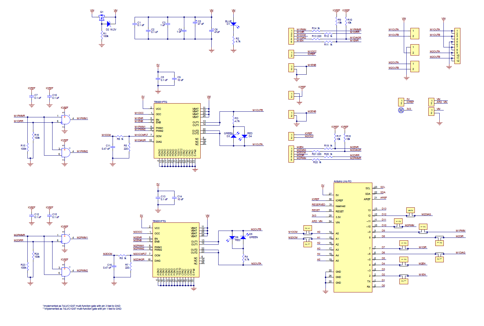 Pololu Dual Tb9051ftg Motor Driver Shield For Arduino Igbt Circuit Diagram Free Download Wiring Schematic This Is Also Available As A Downloadable Pdf 248k