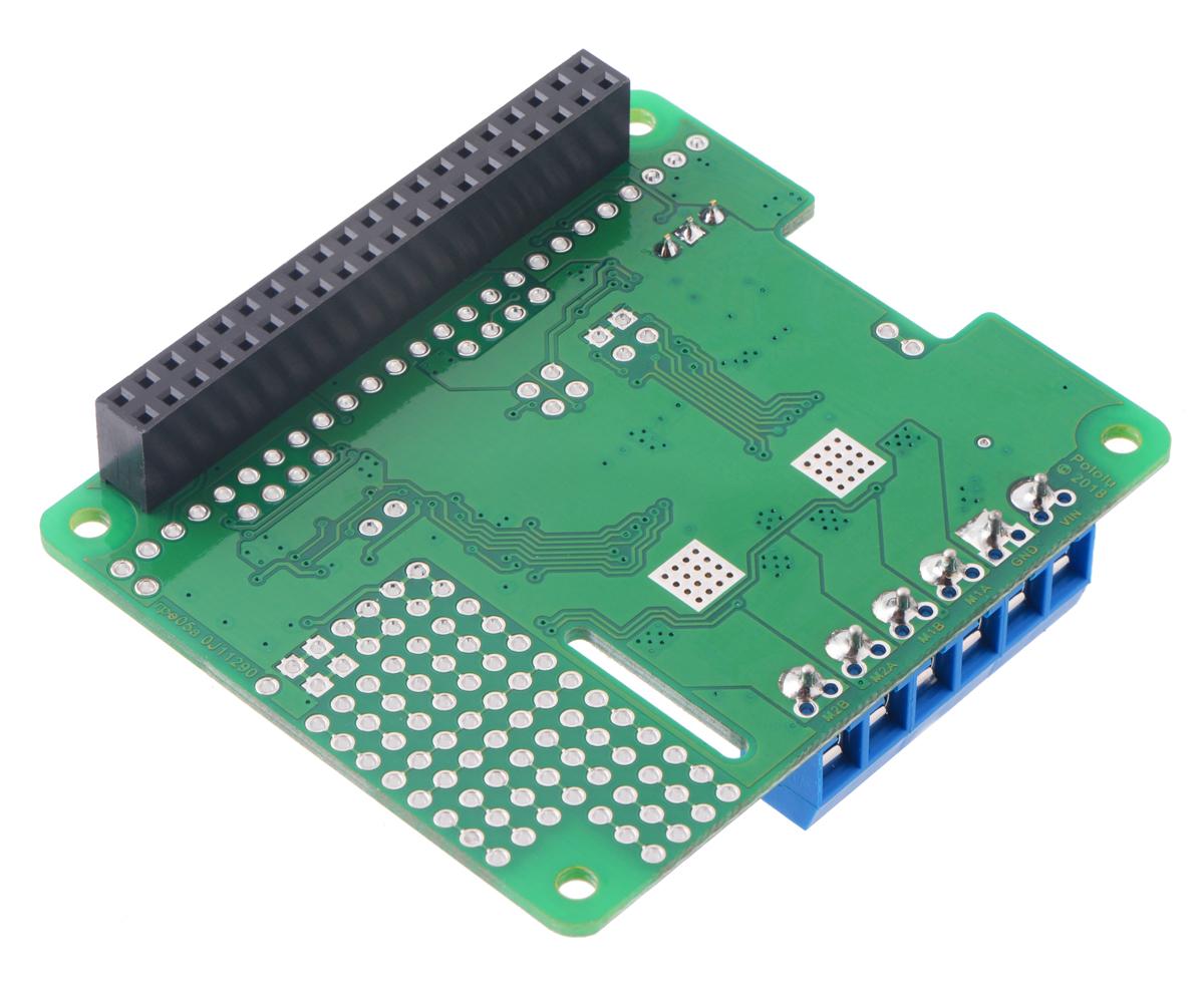 Pololu - Dual TB9051FTG Motor Driver for Raspberry Pi (Partial Kit)