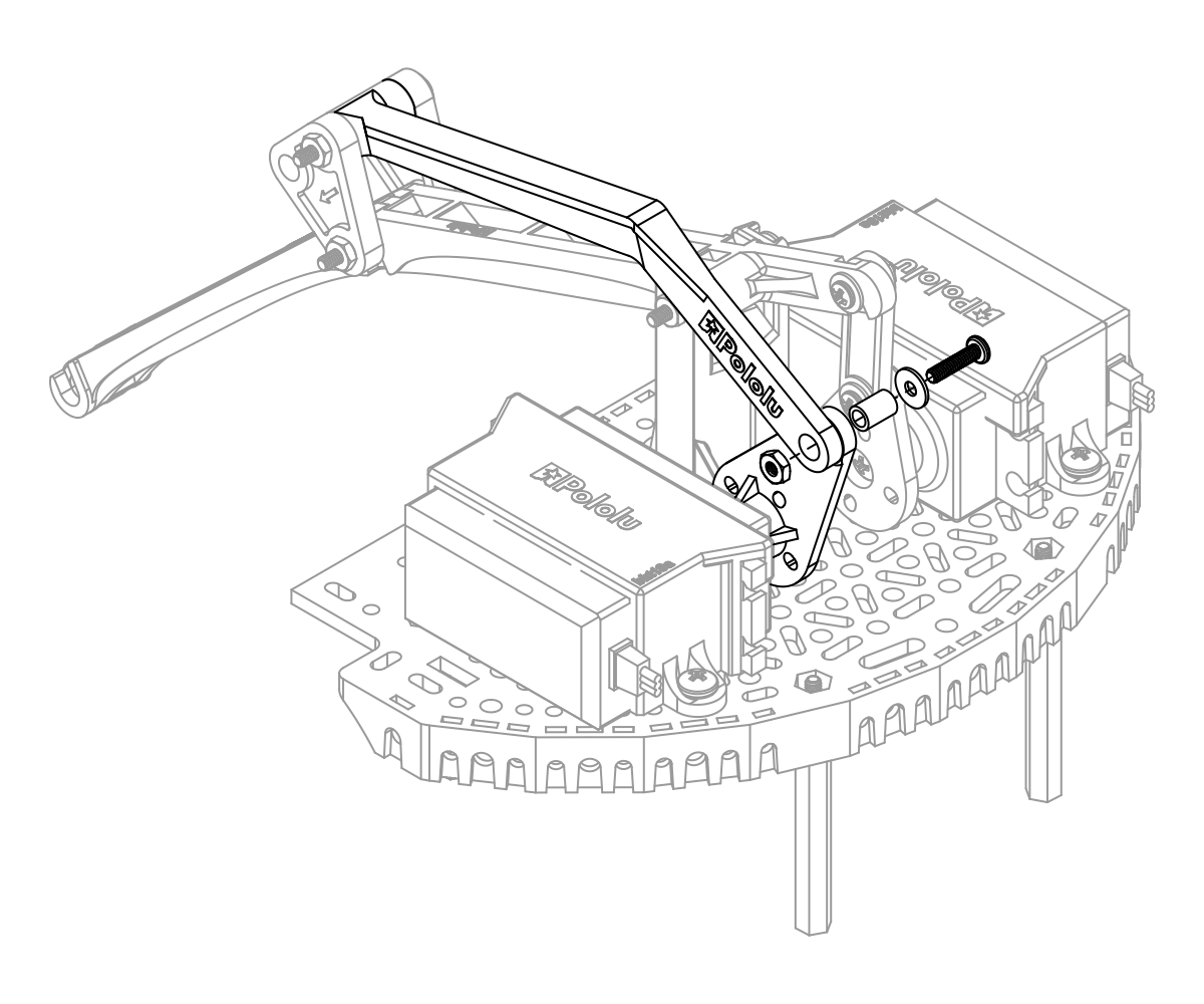 pololu user s guide for the robot arm kit for romi Servo Linear-Motion connecting the rear tilt arm to the tilt servo on the robot arm for romi accessory