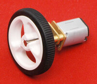 Pololu wheel 32×7mm on a micro metal gearmotor.