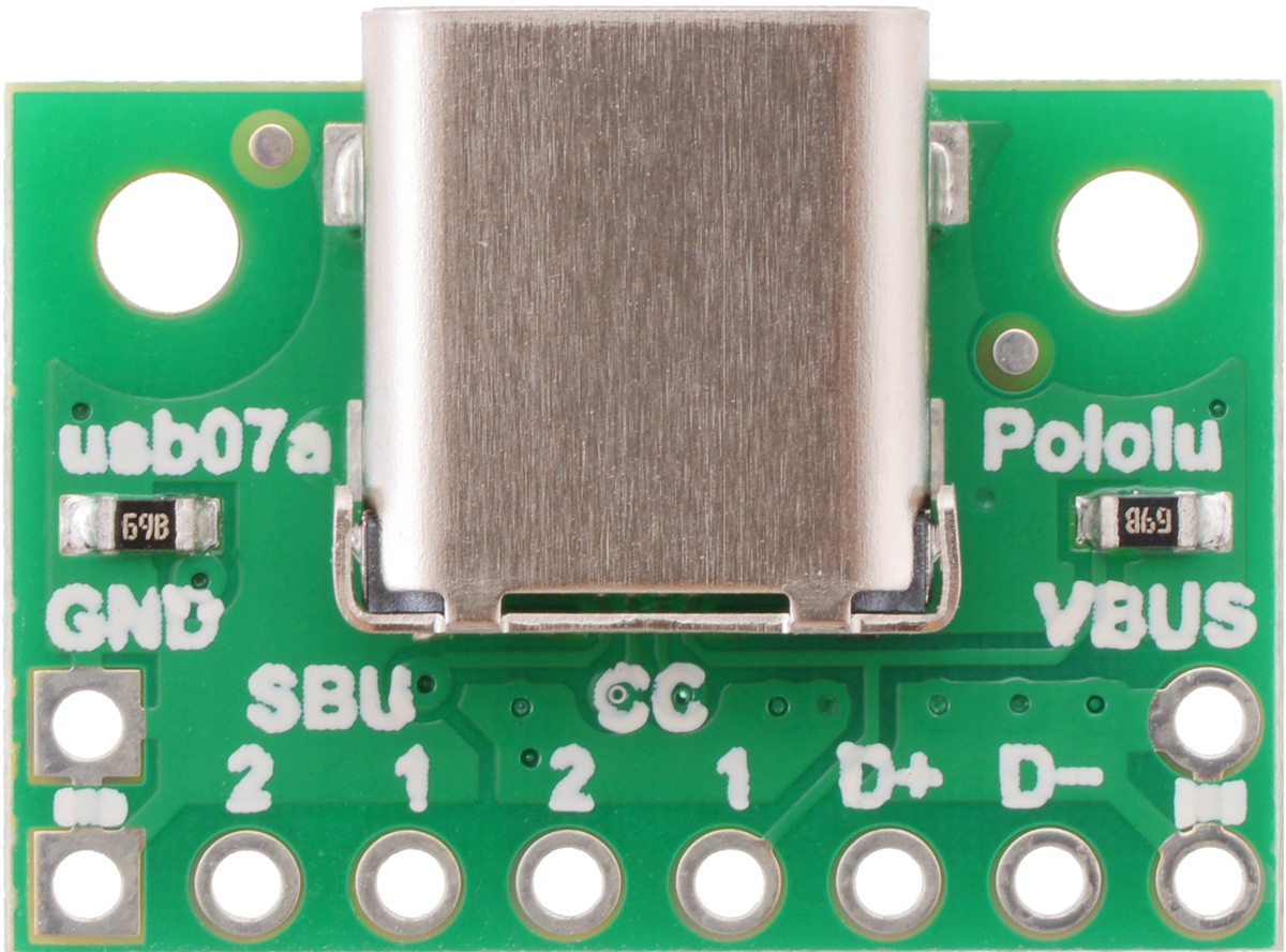 Pololu Usb 20 Type C Connector Breakout Board Jack Schematic Top View