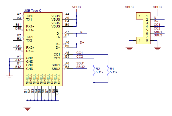 Pololu - USB 2.0 Type-C Connector Breakout Board on usb to ps2 wiring-diagram, usb cable drawing, usb type a dimensions, usb cord wire diagram, usb pinout diagram, usb type a plug, usb pin assignment, usb type a power, usb wire diagram and function, usb pin diagram, usb 3.0 header pinout, usb plug diagram, usb 3.0 wiring, micro usb wiring diagram, usb type a pinout, usb connector wiring, usb connections diagram, usb sound wiring diagram, usb cable diagram, usb type a cable,