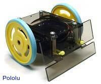 A laser-cut sumo robot.