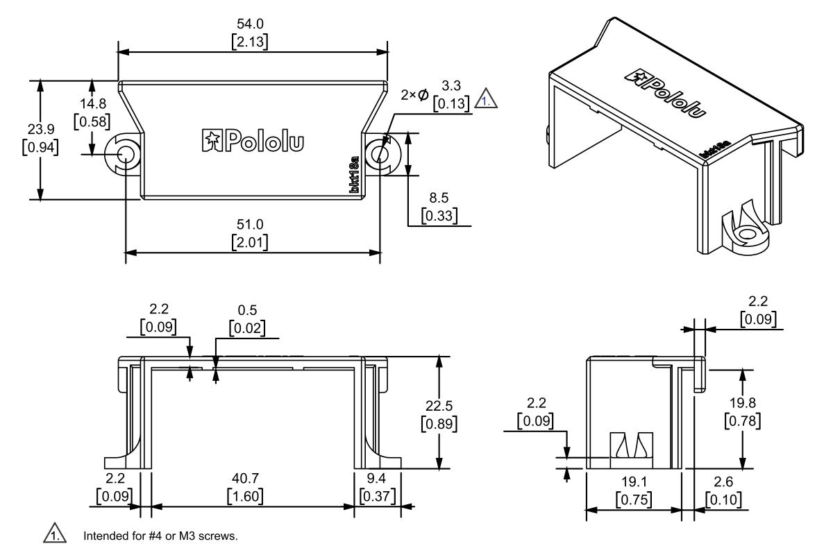 pololu mounting bracket for standard size servos. Black Bedroom Furniture Sets. Home Design Ideas