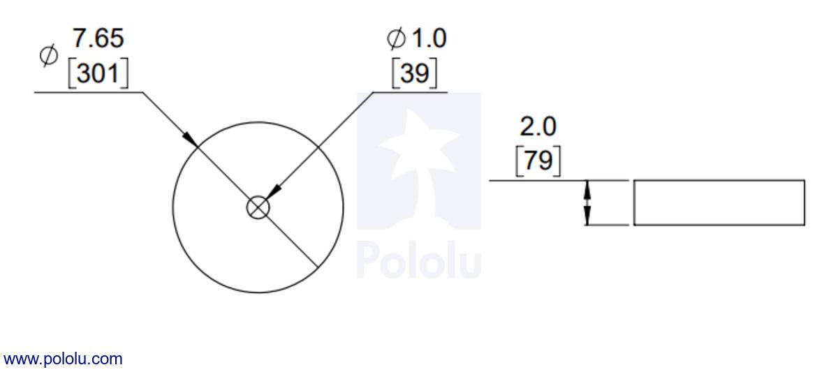 Pololu Magnetic Encoder Disc For Micro Metal Gearmotors Od 765
