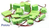 An assortment of NiMH battery packs.