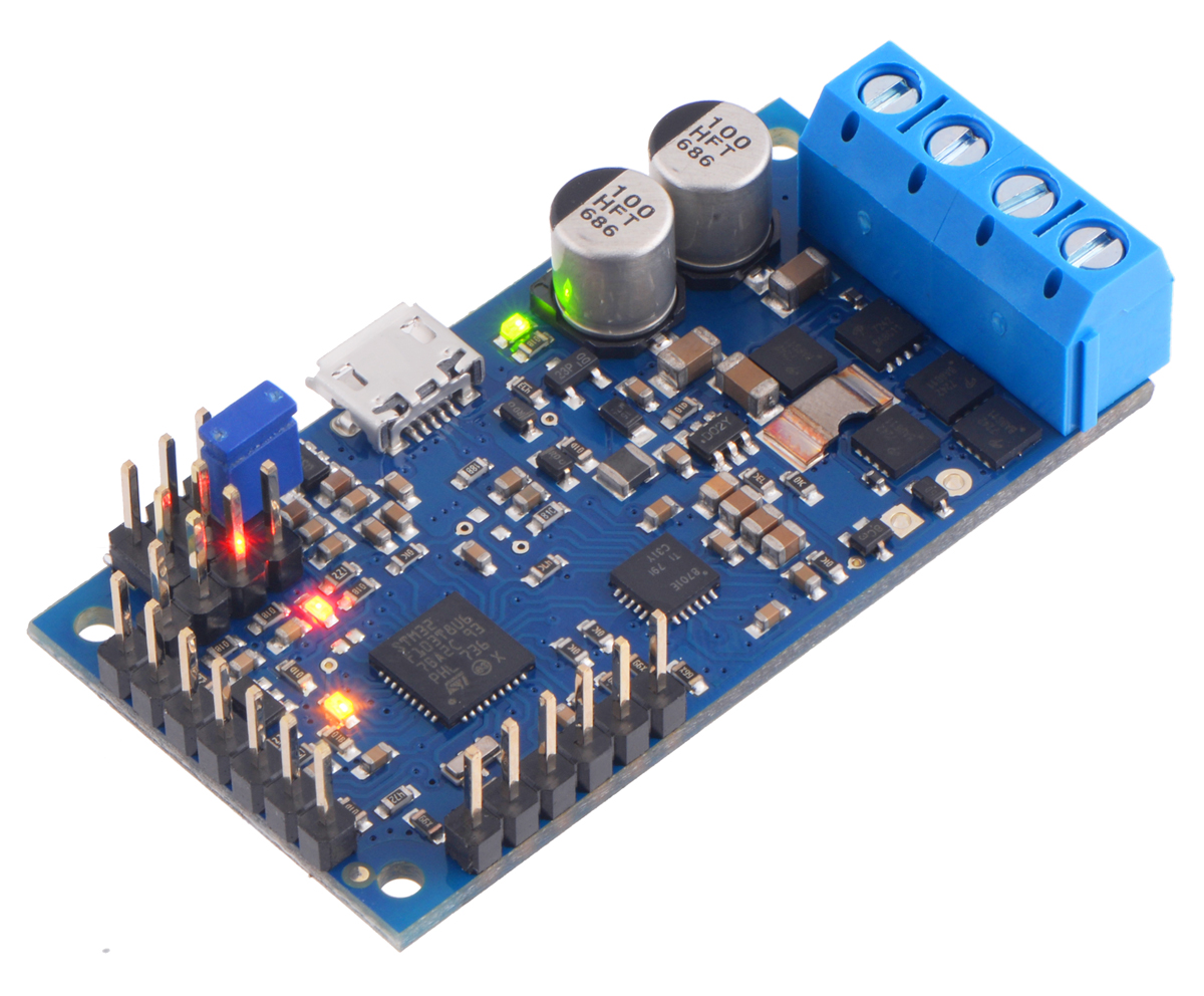 Pololu High Power Simple Motor Controller G2 24v12 Connectors Opamp Low Battery Charger Circuit Soldered