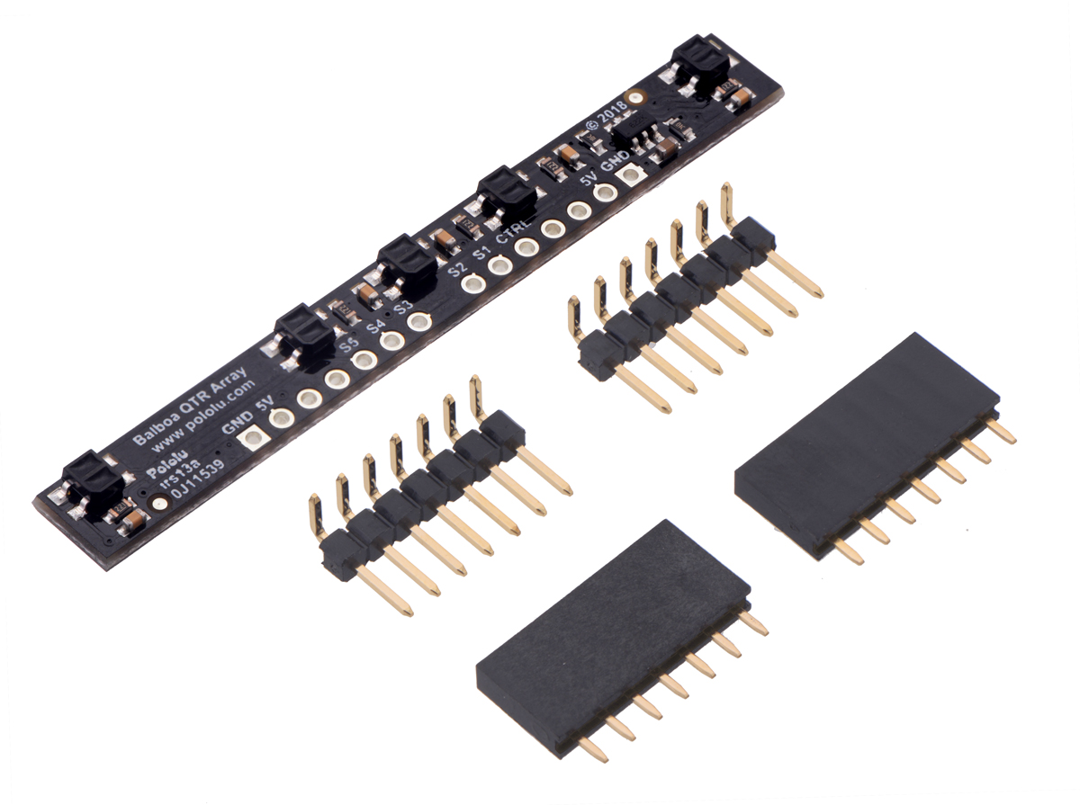Pololu 5 Channel Reflectance Sensor Array For Balboa 32u4 Circuit In The Infrared Reflective Detector Usually Found Many Balancing Robot