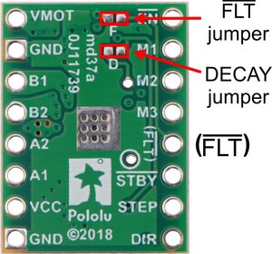 STSPIN820 Stepper Motor Driver Carrier connections