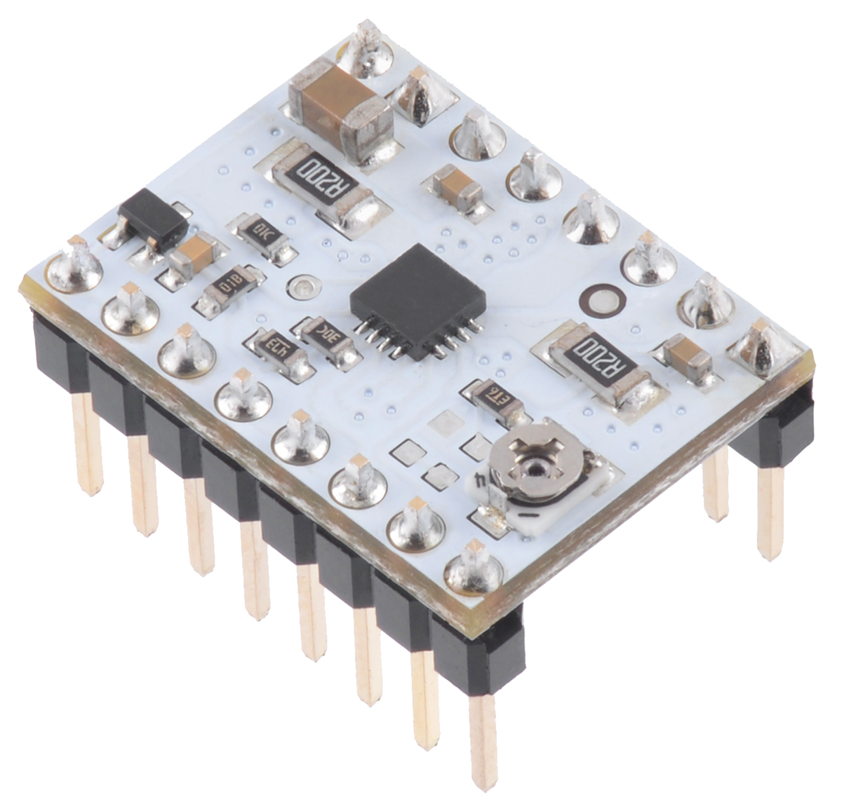 Pololu Stspin220 Low Voltage Stepper Motor Driver Carrier We Can Configure Them As A Lowvoltage Bipolar Power Supply The Headers Be Soldered In For Use With Solderless Breadboards Or 01 Female Connectors You Also Solder Your Leads And Other Connections