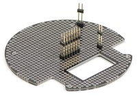 Bottom view of 3pi expansion kit with cutouts (black solder mask version).