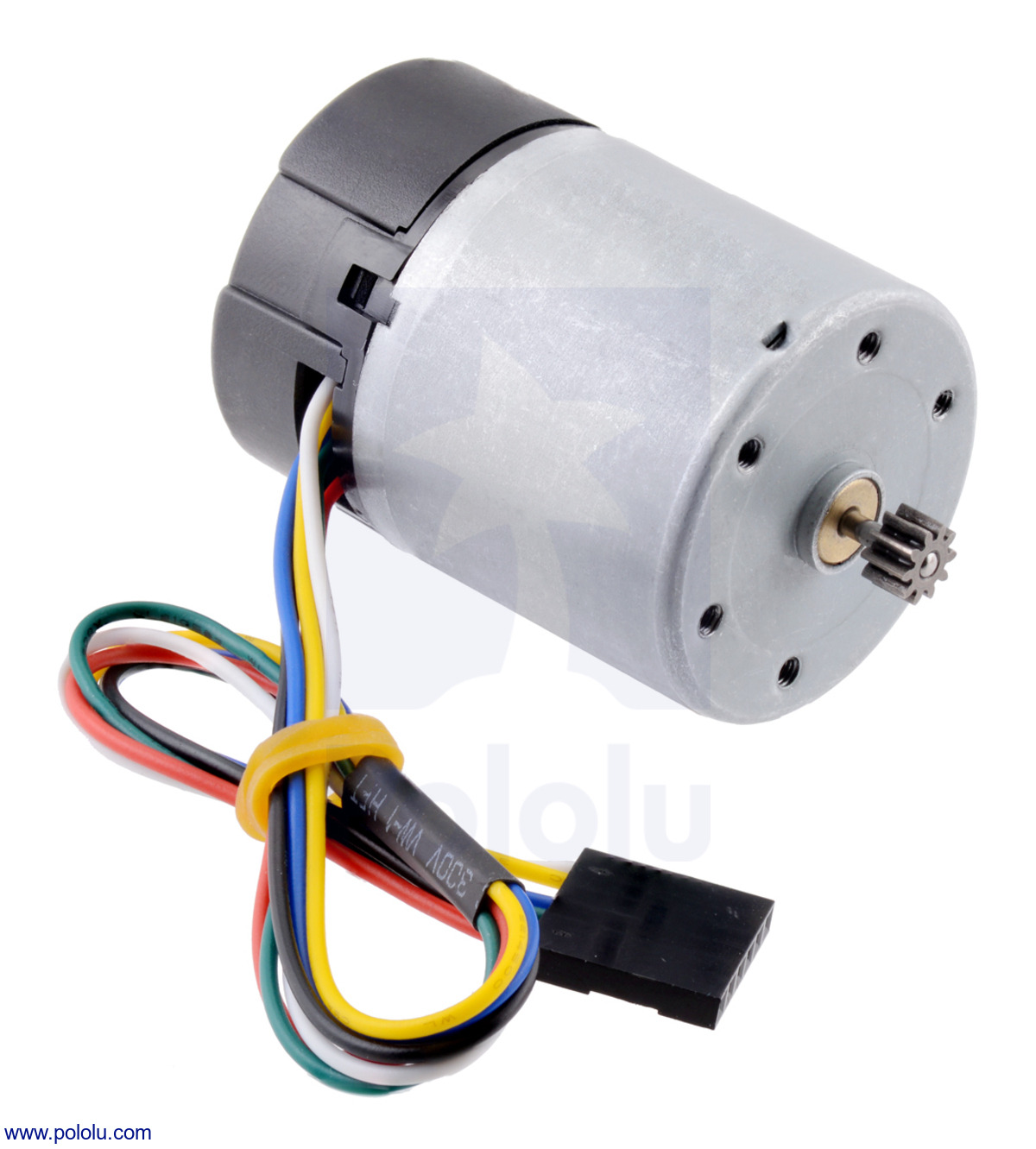 Motor with 64 CPR Encoder for 37D mm Metal Gearmotors (No Gearbox, Spur  Pinion)